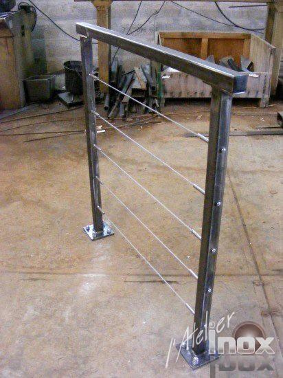 garde corps acier laqué / cable modèle