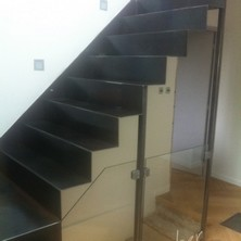 escalier industriel et garde corps