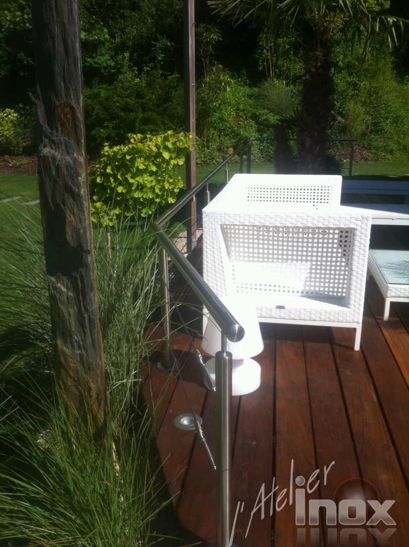 garde corps cable terrasse inox