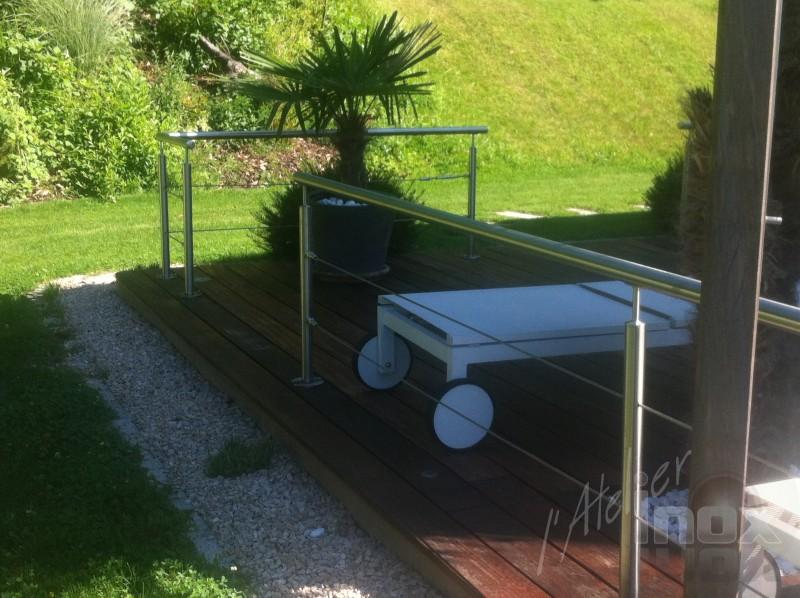garde corps en inox cable terrasse