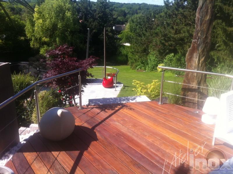 garde corps en inox cable terrasse luxe