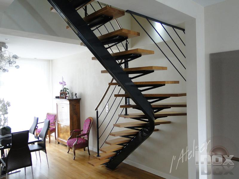 Escalier mono limon cintré courbé