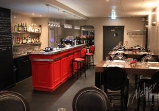 comptoir inox restaurant le cercle