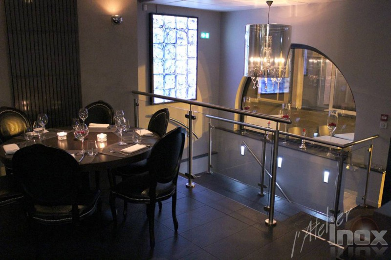 garde corps inox verre restaurant le cercle Mulhouse