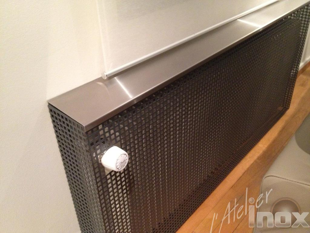 cache radiateur en acier laqu l 39 atelier inox. Black Bedroom Furniture Sets. Home Design Ideas