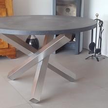 table inox plateau melaminé