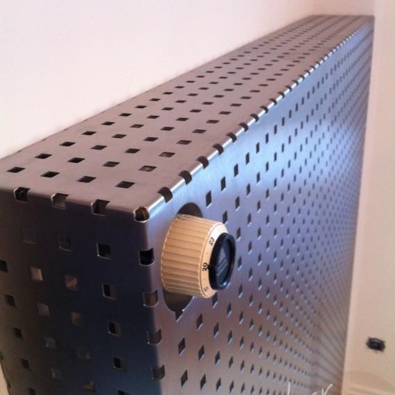 cache radiateur inox