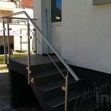rampe inox cables et verre