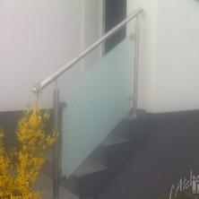 rampe inox verre mat