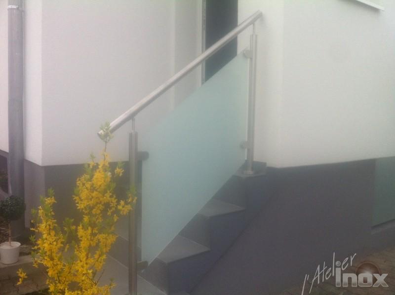 Rampe Inox Verre Mat Escalier L Atelier Inox