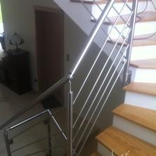 rampe inox escalier bois