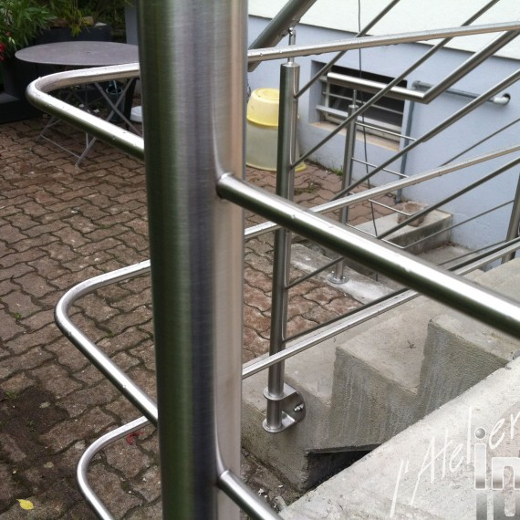rampe inox détails de fabrication