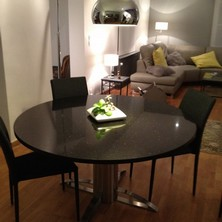 table inox pied cylindre